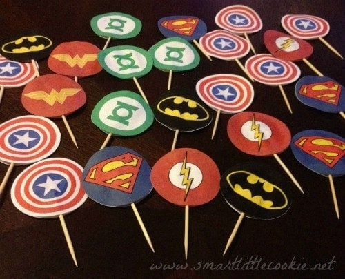 Superhero Cupcake Toppers 2