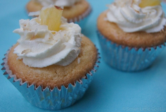 Coconut Tres Leches Cupcakes | SmartLittleCookie.net