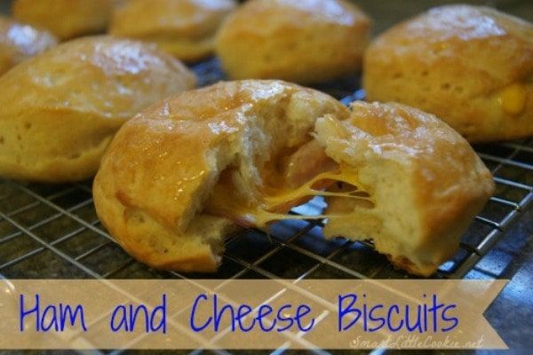 Ham and Cheese Biscuits |SmartLittleCookie.net