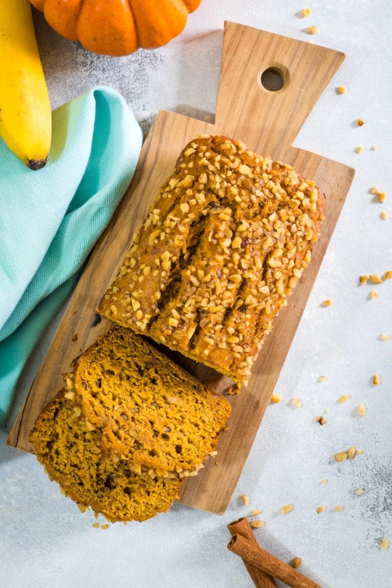 Pan de Banana y Calabaza
