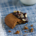 Hazelnut Butter Cookies Dipped in Chocolate   SmartLittleCookie.net