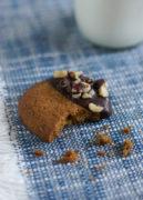 Hazelnut Butter Cookies Dipped in Chocolate | SmartLittleCookie.net