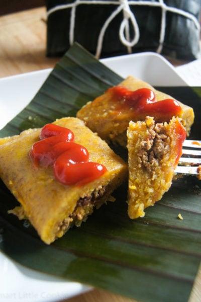 Pasteles en Hoja (Dominican Style Tamales) | SmartLittleCookie.net