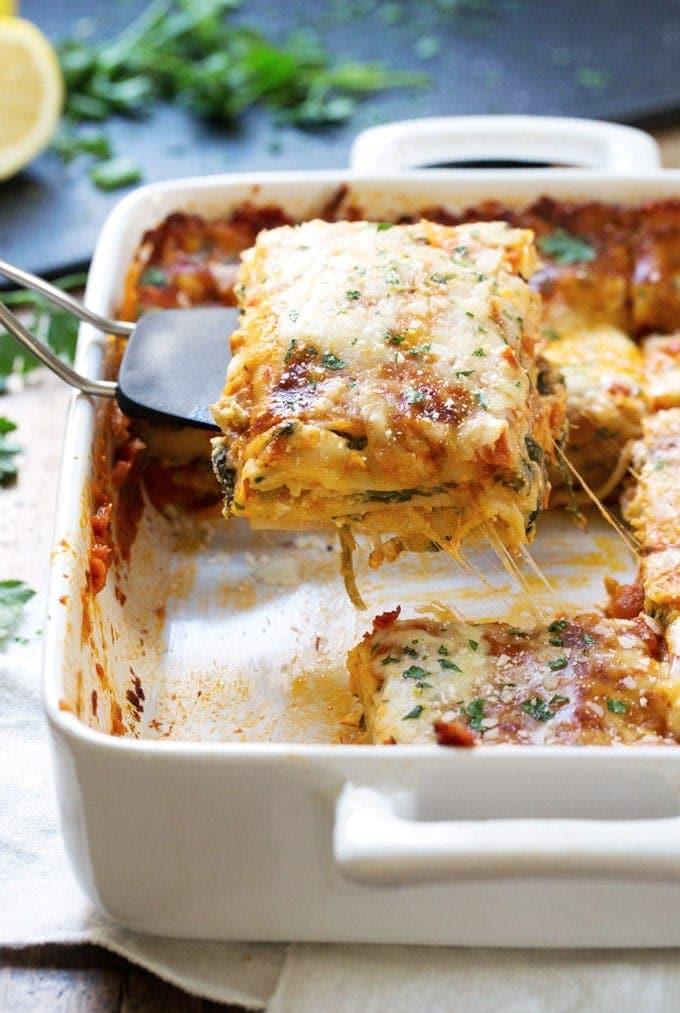 Lasagna Florentine - Pinch of Yum   SmartLittleCookie.net