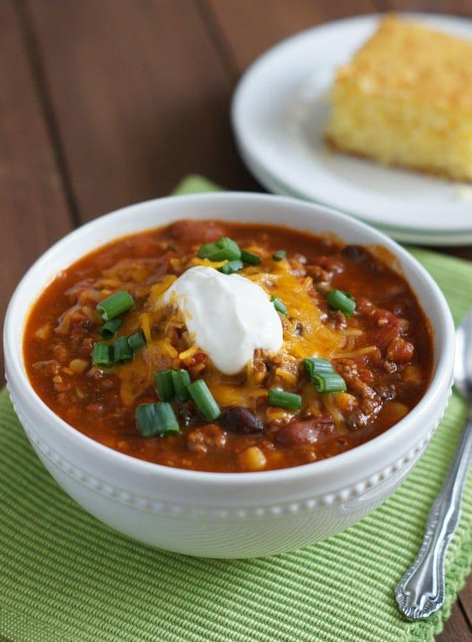 Slow Cooker Chili | SmartLittleCookie.net