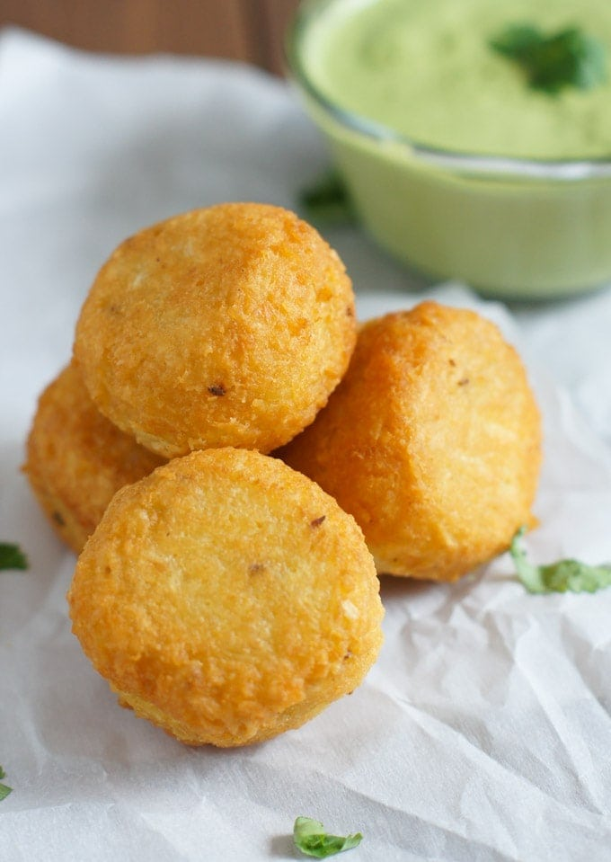 Yuca Balls Stuffed with Cheese | SmartLittleCookie.net