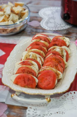 Caprese Salad - Valentine's Day Celebration on a Budget | SmartLittleCookie.net