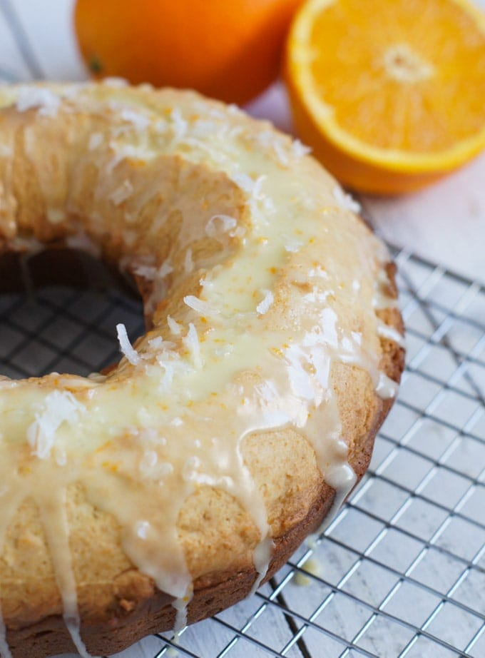Orange Ricotta Coconut Cake | SmartLittleCookie.net