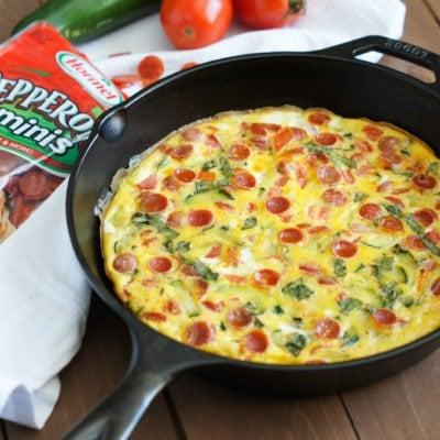 Hormel Pepperoni and Vegetables Frittata | SmartLittleCookie.net