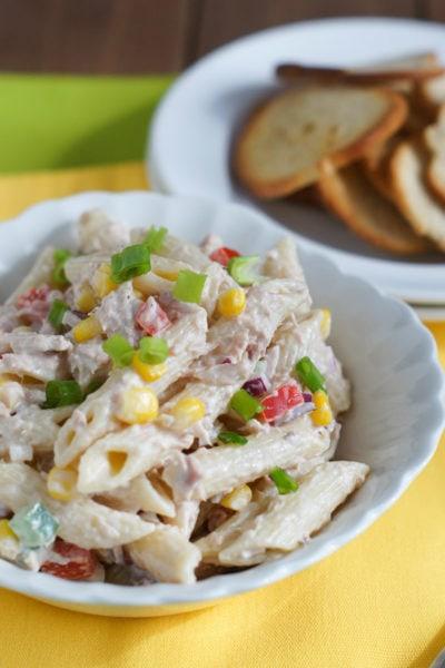 Tuna and Penne Pasta Salad | SmartLittleCookie.net