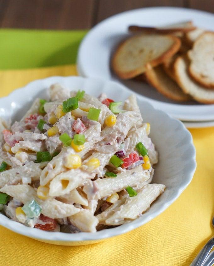 Tuna and Penne Pasta Salad   SmartLittleCookie.net