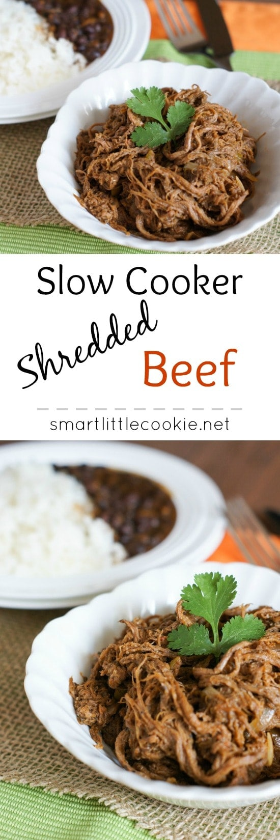 Slow Cooker Shredded Beef ~ Super easy, highly delicious! | smartlittlecookie.net