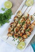Grilled Garlic Cilantro Chicken Skewers   SmartLittleCookie.net