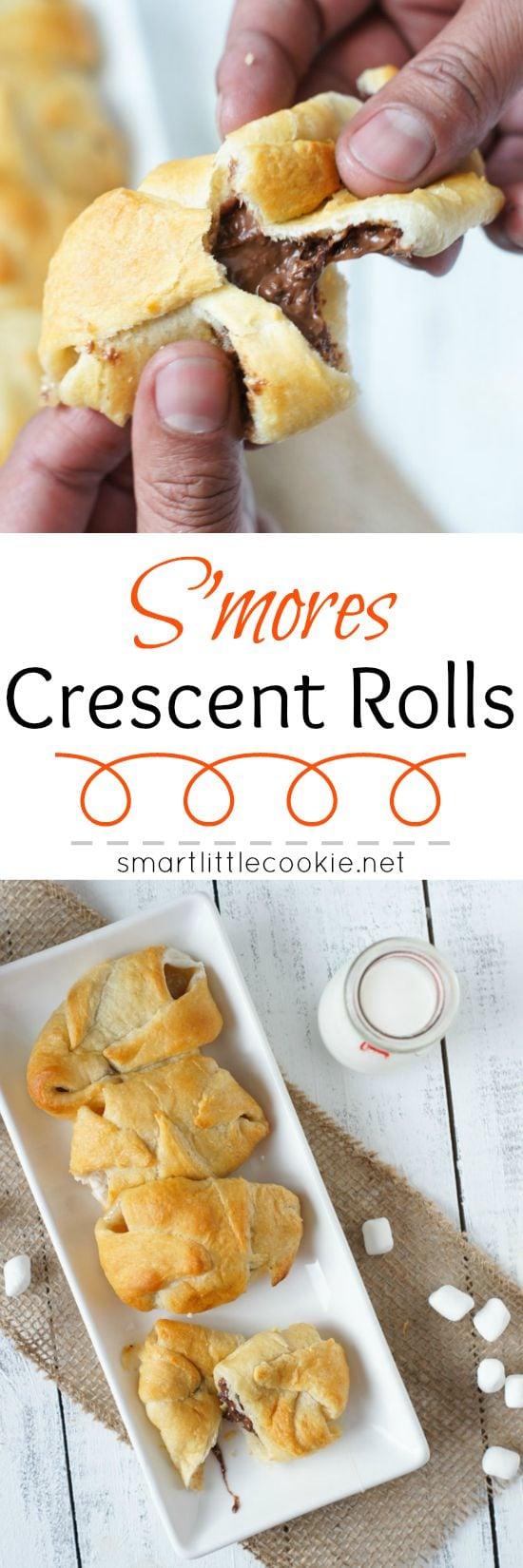 S'mores Crescent Rolls | smartlittlecookie.net