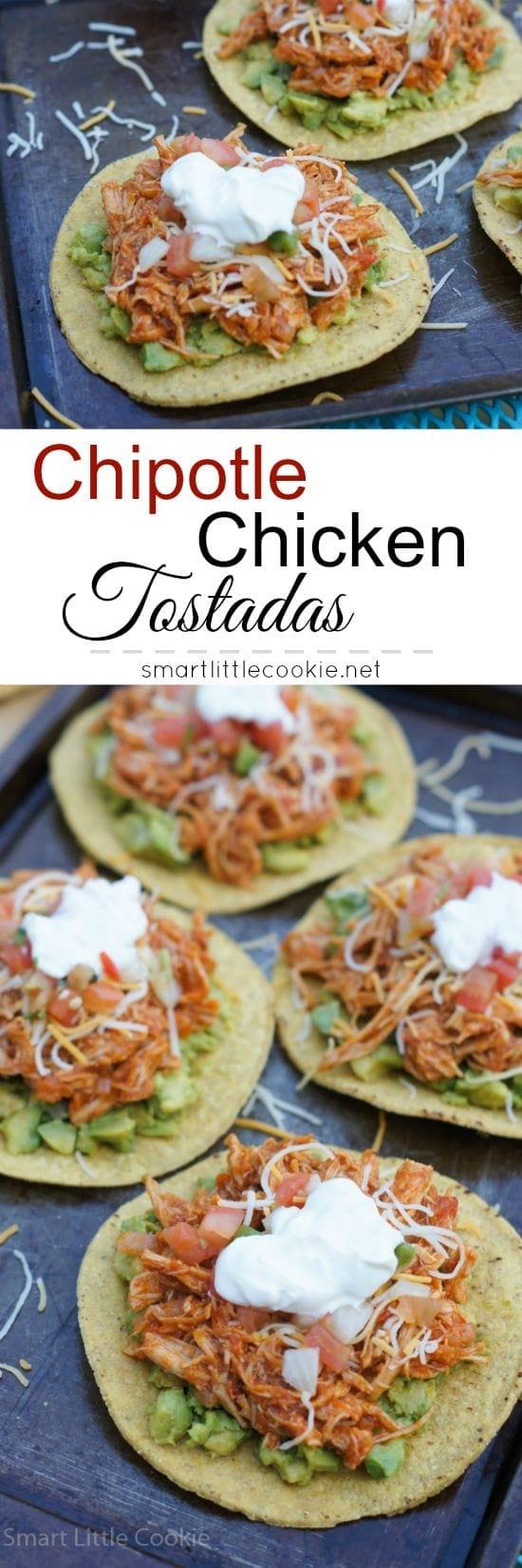 Chipotle Chicken Tostadas   mydominicankitchen.com