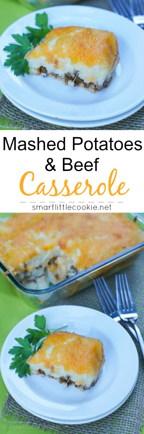 Mashed Potatoes and Beef Casserole |smartlittlecookie.net