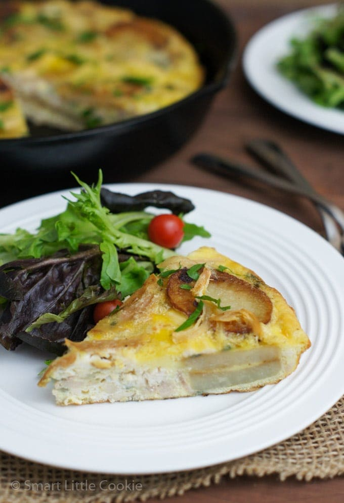 Spanish Style Tortilla with Chicken | smartlittlecookie.net