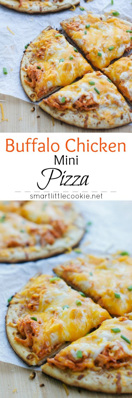 Buffalo Chicken Mini Pizza | smartlittlecookie.net
