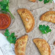 Pepperoni Pizza Empanadas ~ Crunchy on the outside, cheesy and gooey on the inside. The perfect snack or appetizer for any occasion.