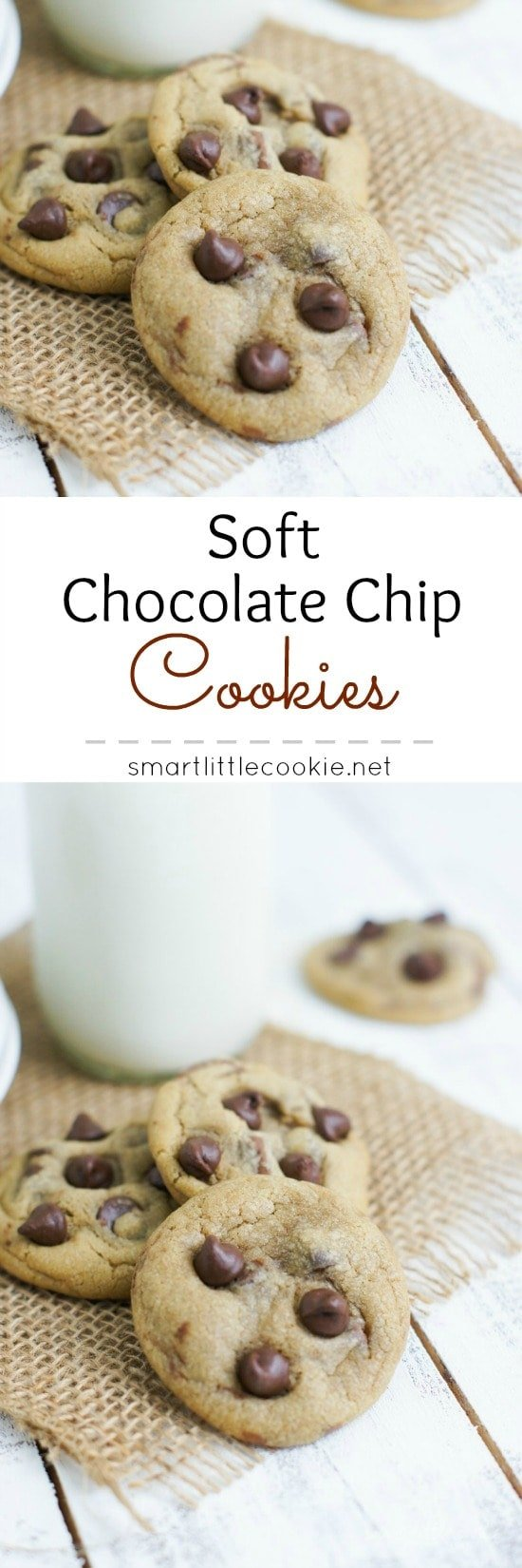 The best chocolate chip cookies: soft, buttery and with lots of chocolate.
