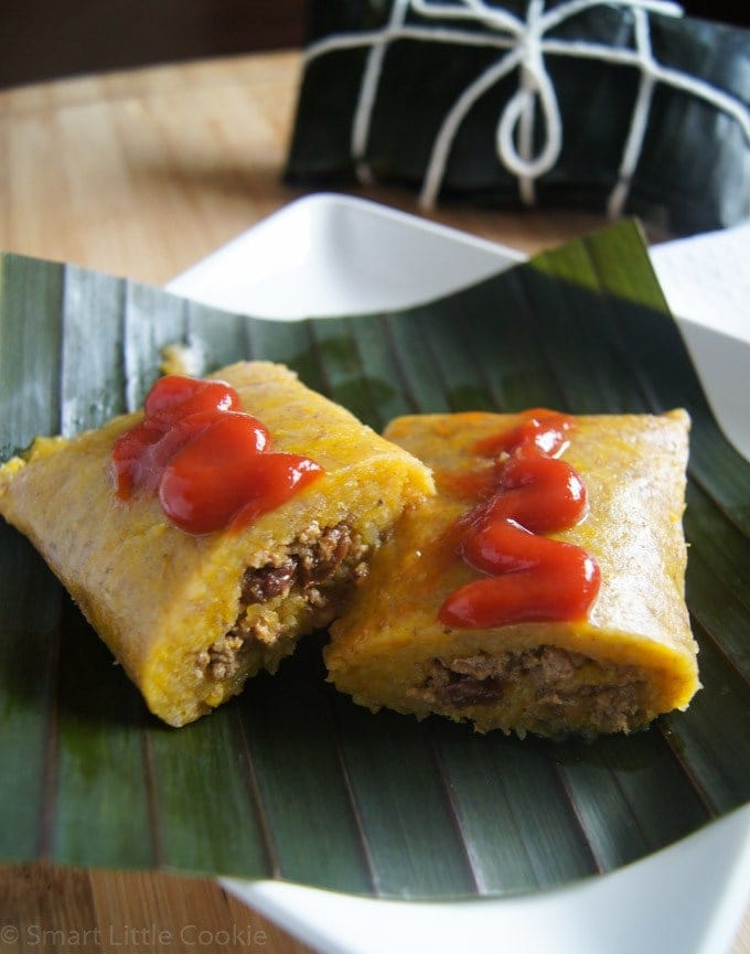 PLANTAIN RECIPES - Pasteles en Hoja Dominican Style Tamales | Smartlittlecookie.net