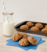 Gluten Free Chocolate Peanut Butter Cookies made with Honey Bunches of Oats Chocolate cereal.