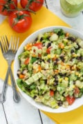 Tuna Black Bean Chipotle Salad with Cilantro Avocado Dressing ~ this salad is bright, colorful, nutritious, and absolutely delicious! Perfect for lunch, dinner, as a side dish or even an appetizer.