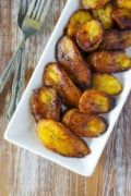 Fried Sweet Plantain Slices (Platanos Maduros Fritos) ~ Scrumptious sweet plantains slices fried to perfection. Simple and easy, this is the best appetizer or side dish for any meal.