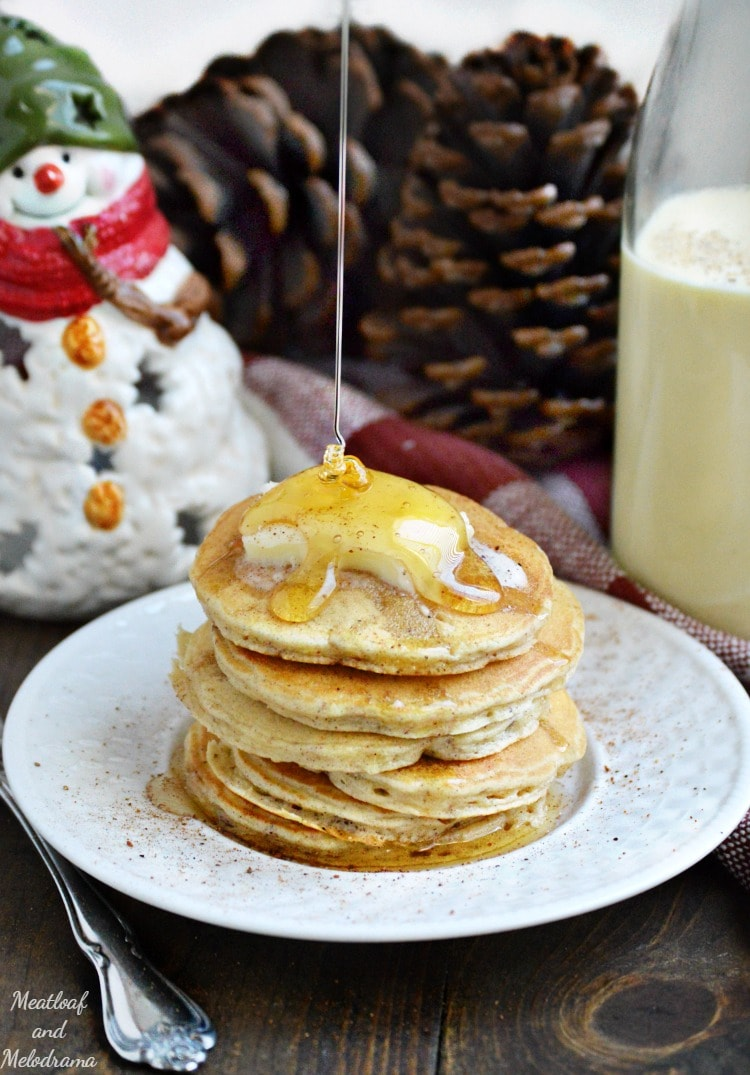 Thrive at Five Meal Plan – Week #5 ~ A weekly meal plan for busy parents. This week's plan features a unique sweet potato recipe, a traditional Latin holiday dish and a fluffy eggnog pancakes recipe for your holiday breakfast or brunch. #mealplan