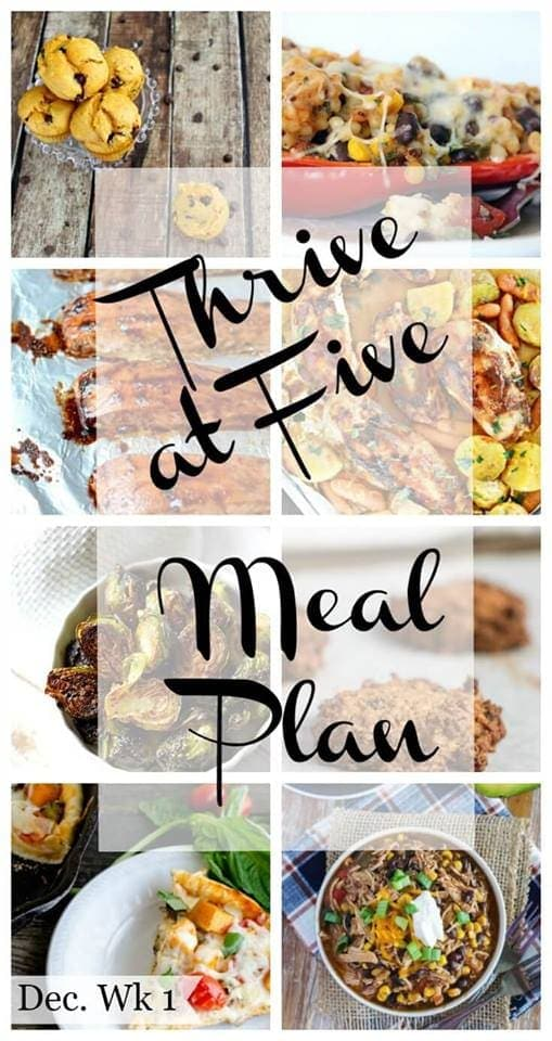 Thrive at Five Meal Plan – Week #3 ~ A weekly meal plan for busy parents. This week's plan features a healthy and delicious quinoa dinner, a yummy Asian baked salmon and two delicious desserts.