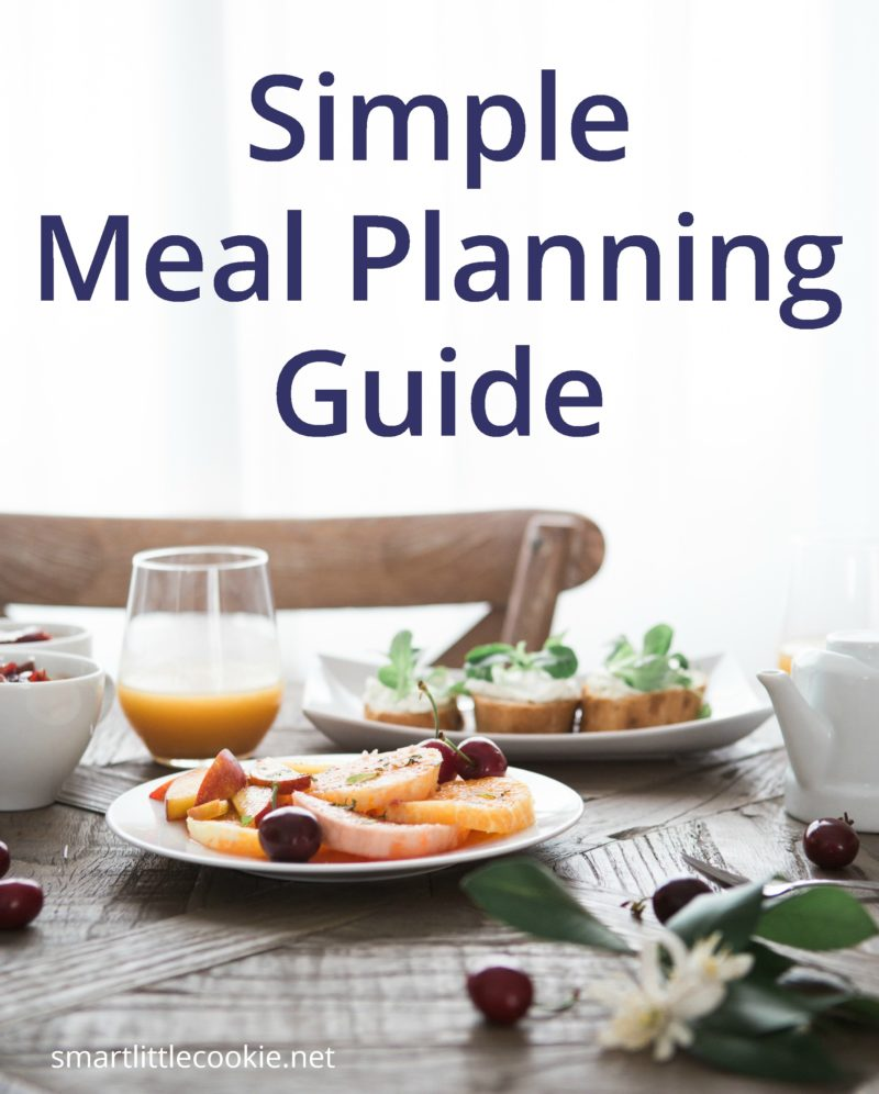 A simple guide to meal planning: 8 simple tips to help you start meal planning today to have a smoother week starting tomorrow. #mealplanning smartlittlecookie.net