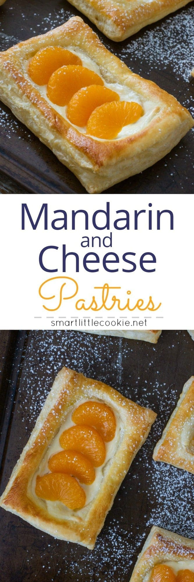 Delicious mandarin fruit and cheese pastries perfect for breakfast or dessert! Made quickly and easily using DOLE® Mandarin Fruit Bowls. #VidaDole #ad #snacks www.mydominicankitchen.com