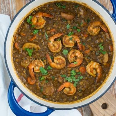 Shrimp and Lentils Stew