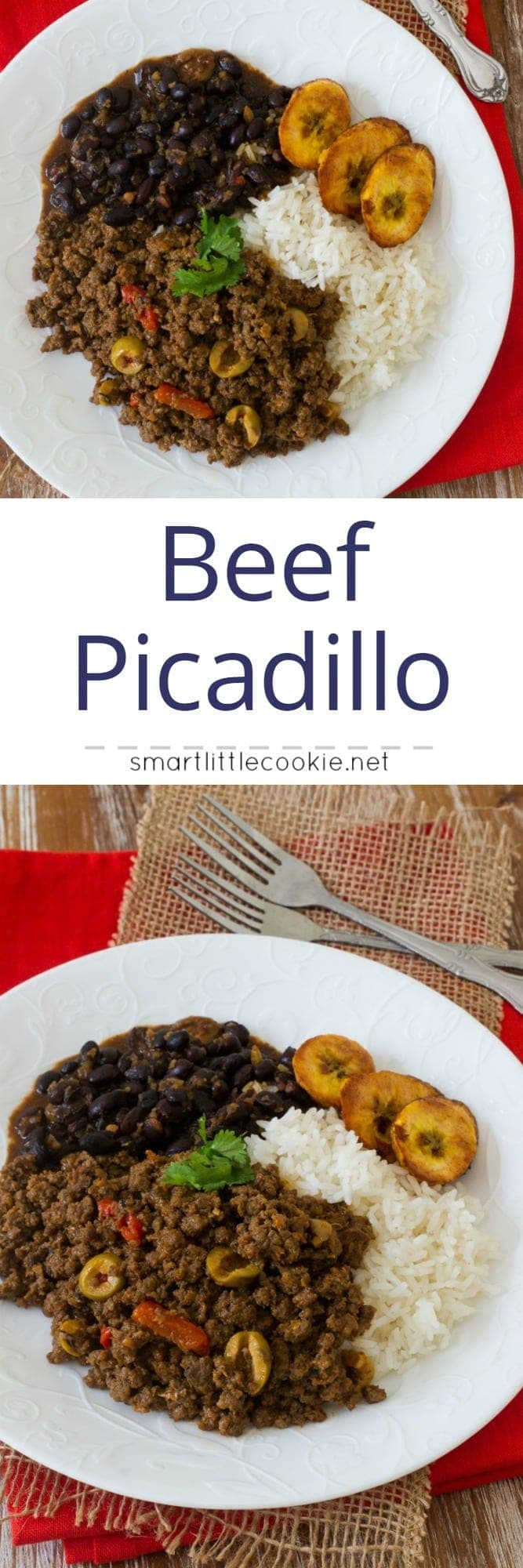 Beef Picadillo is a delicious, quick fix, easy dish filled with flavor. It is perfect for weeknight dinners, layered in casseroles and even as a filling for your homemade savory pastries. #easyrecipe #weeknightmeal mydominicankitchen.com