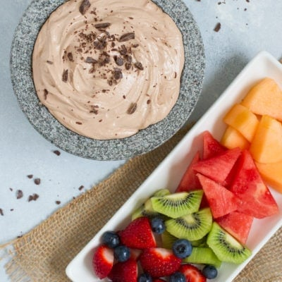 Easy Chocolate Fruit Dip