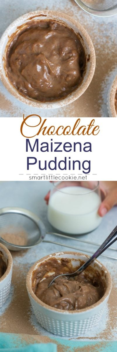 Chocolate Maizena Pudding - Sweet, creamy, chocolaty warm pudding made with milk, Maizena (corn starch), sugar, cinnamon and sweet chocolate! #HerenciaLeche #FuertesConLeche #ad