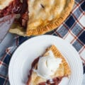 A deliciously sweet and tangy Apple Cranberry Pie filled with crisp apples and cranberries covered by a flaky, buttery crust. THE perfect holiday dessert!