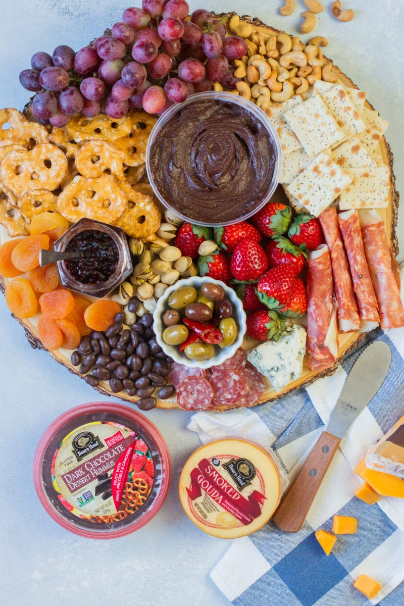 Overhead shot of the party platter ready to serve.