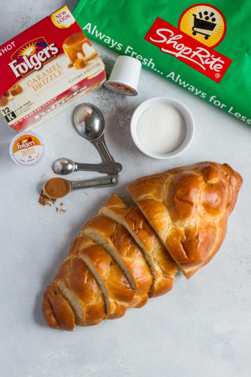 Challah bread on a worktop