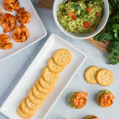 Spicy Shrimp and Guacamole Bites