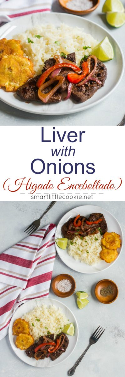 Liver with Onions (Higado Encebollado) ~ Tender and delicious, this sautee liver with onions is ready in about 10 minutes. #ad #FoodwithHeritage