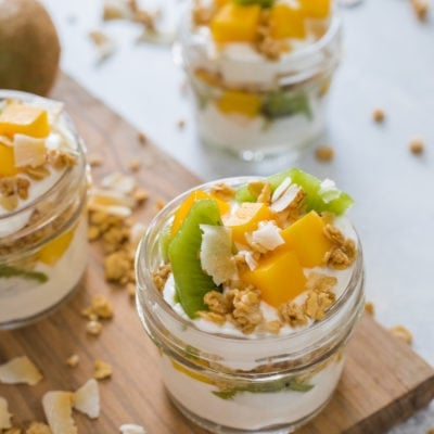 Tropical Fruit Yogurt Parfait