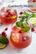 Cranberry Mojito Cocktail