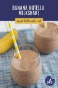 Banana Nutella Milkshake in a glass