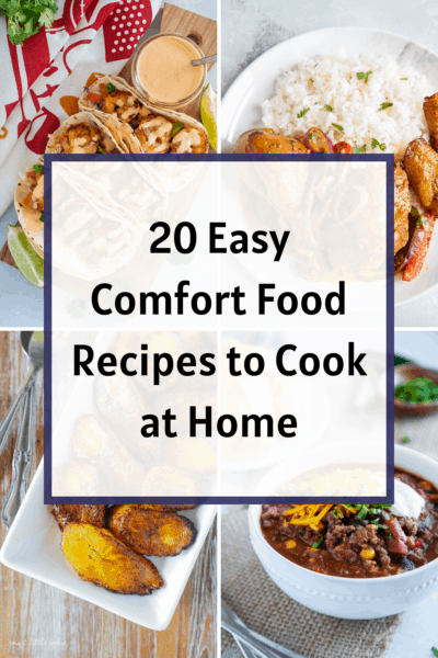 Easy Comfort Food Recipes Collage