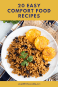 easy comfort food recipes text overlay 1