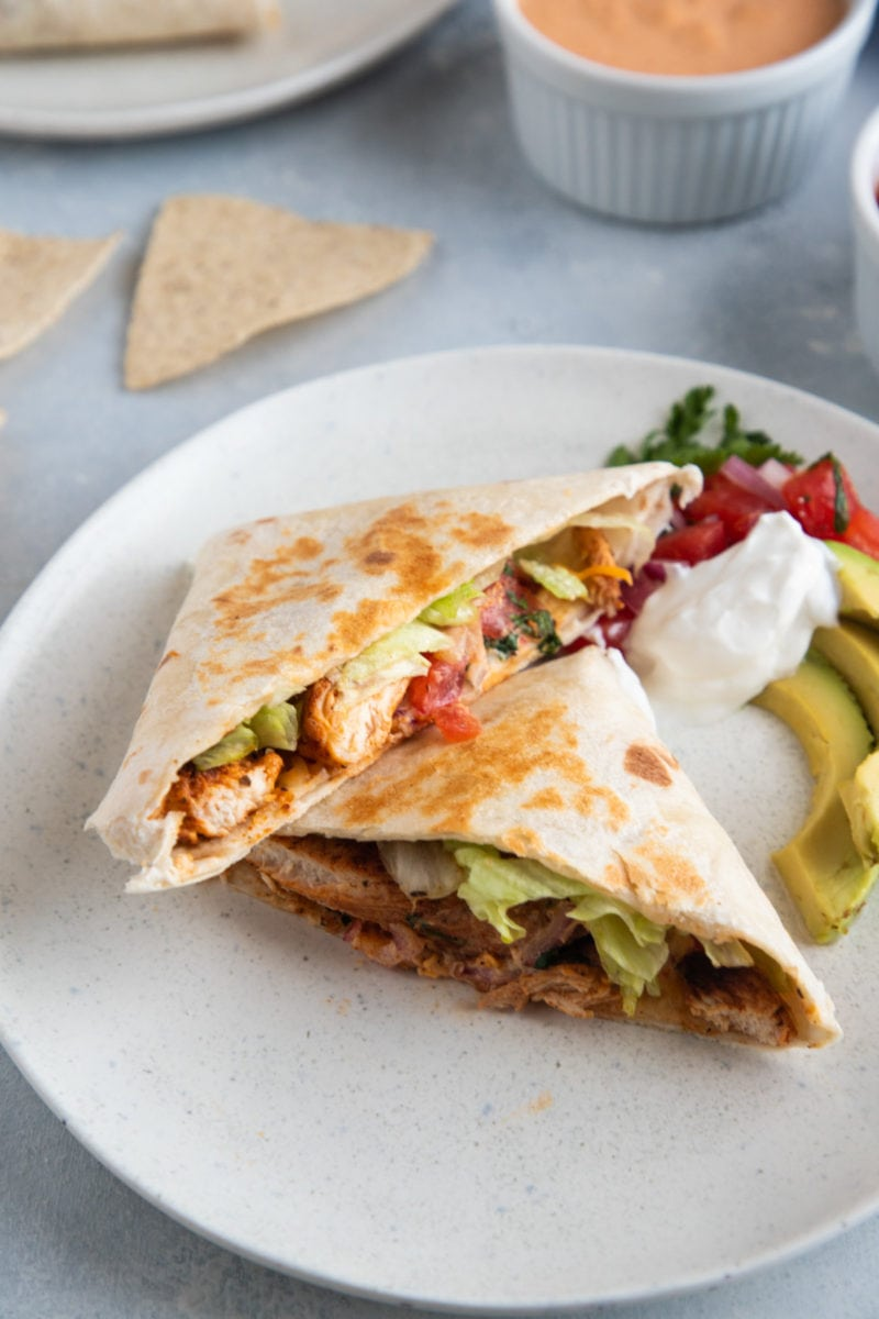 Chicken Wrap on a white plate