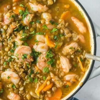 Lentil Stew Recipe with Shrimp