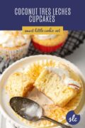 coconut tres leches cupcake Pinterest Graphic 1