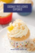 coconut tres leches cupcake Pinterest Graphic 2